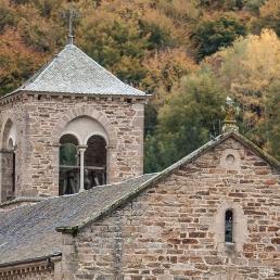 Campanario de la abadía cisterciense de Bonnecombe