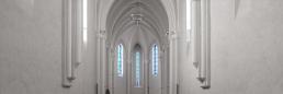Iglesia de la abadía cisterciense de Echourgnac