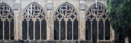 Claustro de la abadía cisterciense de La Oliva en ezza cister .org