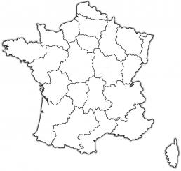 mapa Francia cister