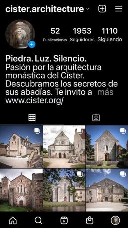 Pantallazo del feed de Instagram de cister.architecture